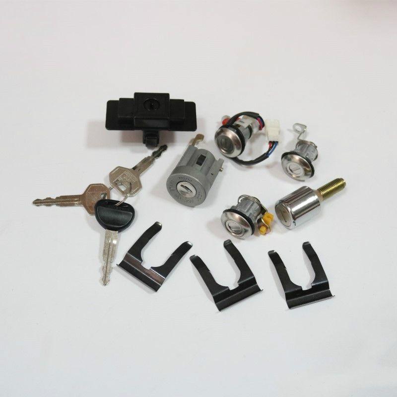 Car allumage + boîte à gants + roue de secours + serrure de porte Cylindre Set clé pour Mitsubishi Pajero Montero MK2 2e V32 4G54