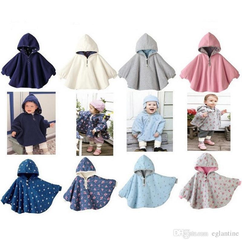 Mode Baby Mäntel Jungen Mädchen Kittel Outwear Fleece Mantel Pullover Mantel Kinderbekleidung Poncho