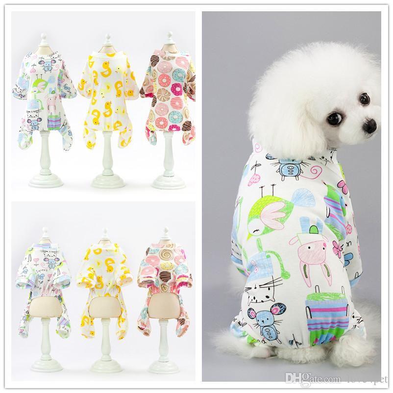 F137 pet cane tuta in cotone cane estate pagliaccetti pagliaccetti primavera vestiti 5 colori 2019 nuovo stile
