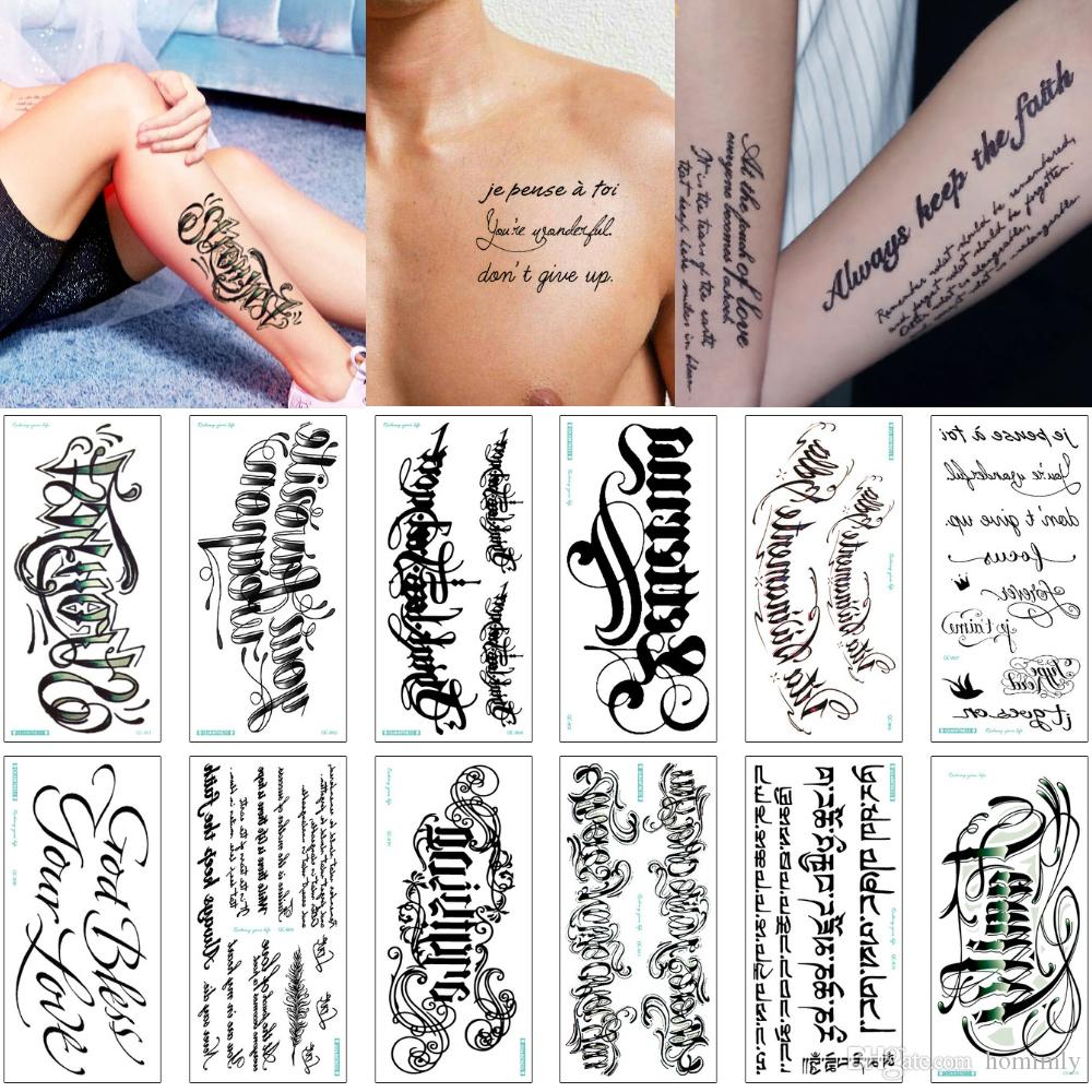 3d Tattoo Alphabet English Word Temporary Body Art Tattoo Sticker Cover Skin For Male Female Arm Chest Waist Lover Waterproof Transfer Paper Japanese Temporary Tattoos Kat Von D Temporary Tattoos From Homimly
