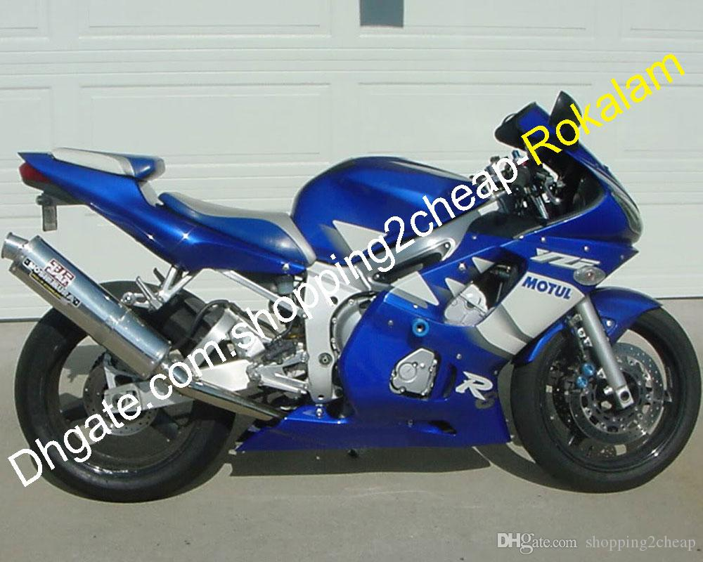 Blue White Fairing For Yamaha YZF600 YZF-R6 YZF 600 R6 Motorcycle Parts 1998 1999 2000 2001 2002 (Injection molding)