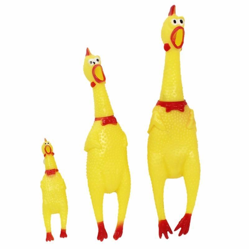 مضحك الكلب الأدوات الجدة الأصفر المطاط الدجاج كلب لعبة الجدة الزعيق صراخ اللوازم الصراخ الدجاج على القطة الأليفة