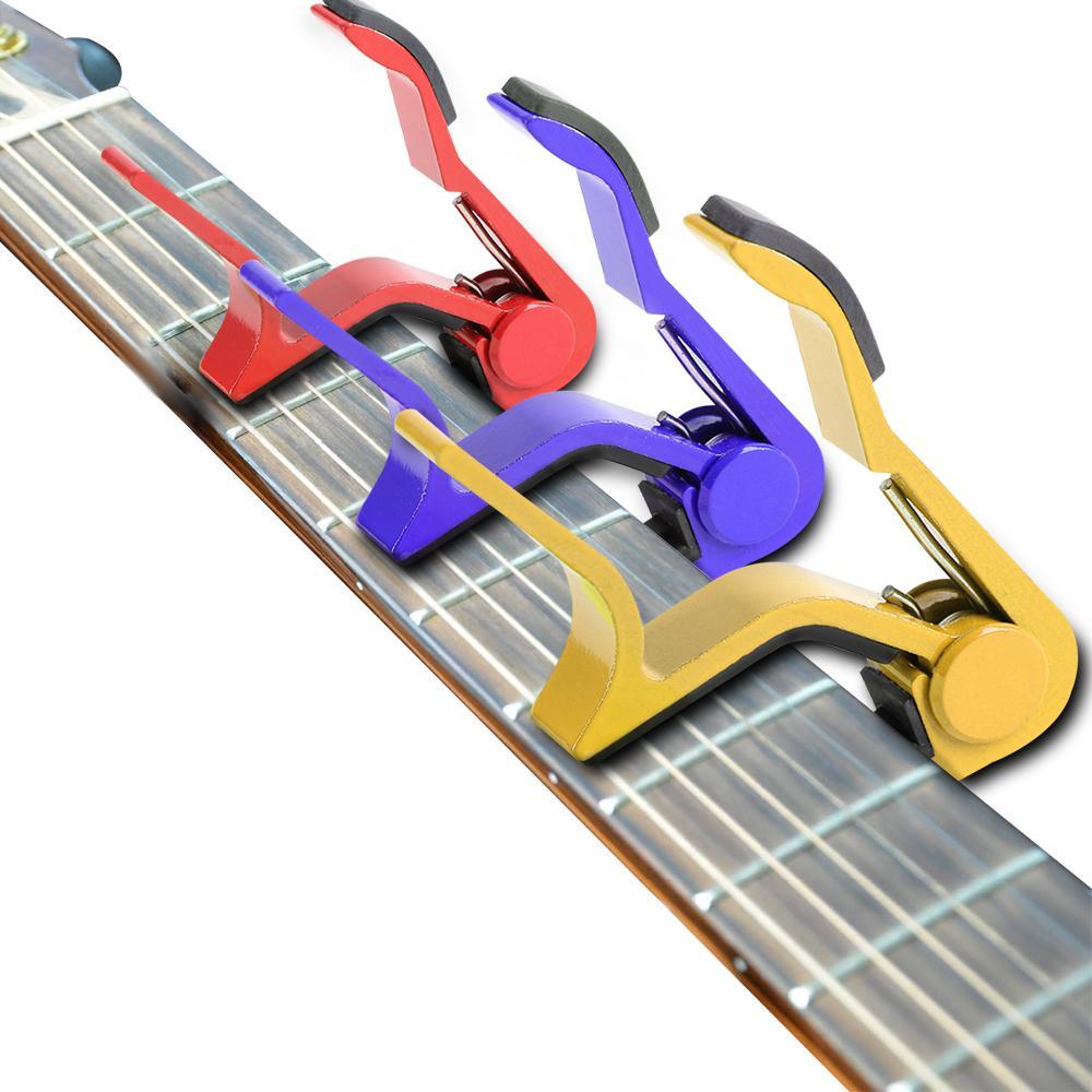 1 قطعة فضية التغيير السريع المشبك مفتاح كابو الغيتار الكلاسيكي لهجة ضبط للكهرباء الصوتية الغيتار القيثارة أداة اليد