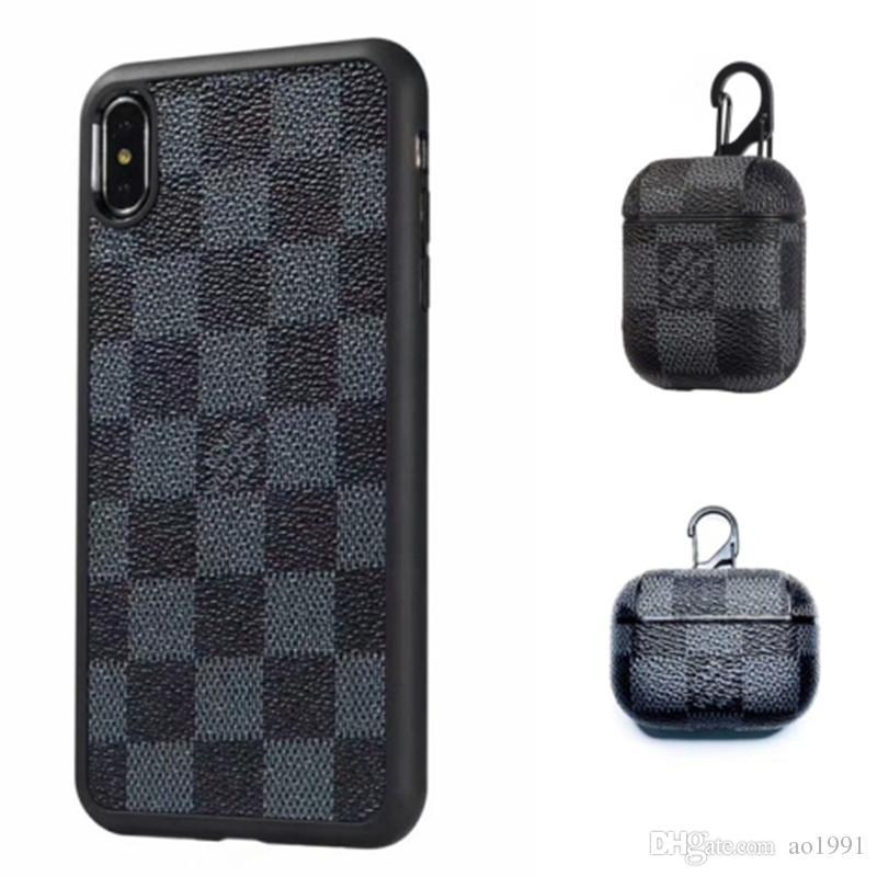 Для iPhone X Xs Max XR 8/7/6 Plus Phone Case задняя обложка Monogram Branding для iPhone 11 Pro Max Mobile Shell с AirPods про наушника чехол
