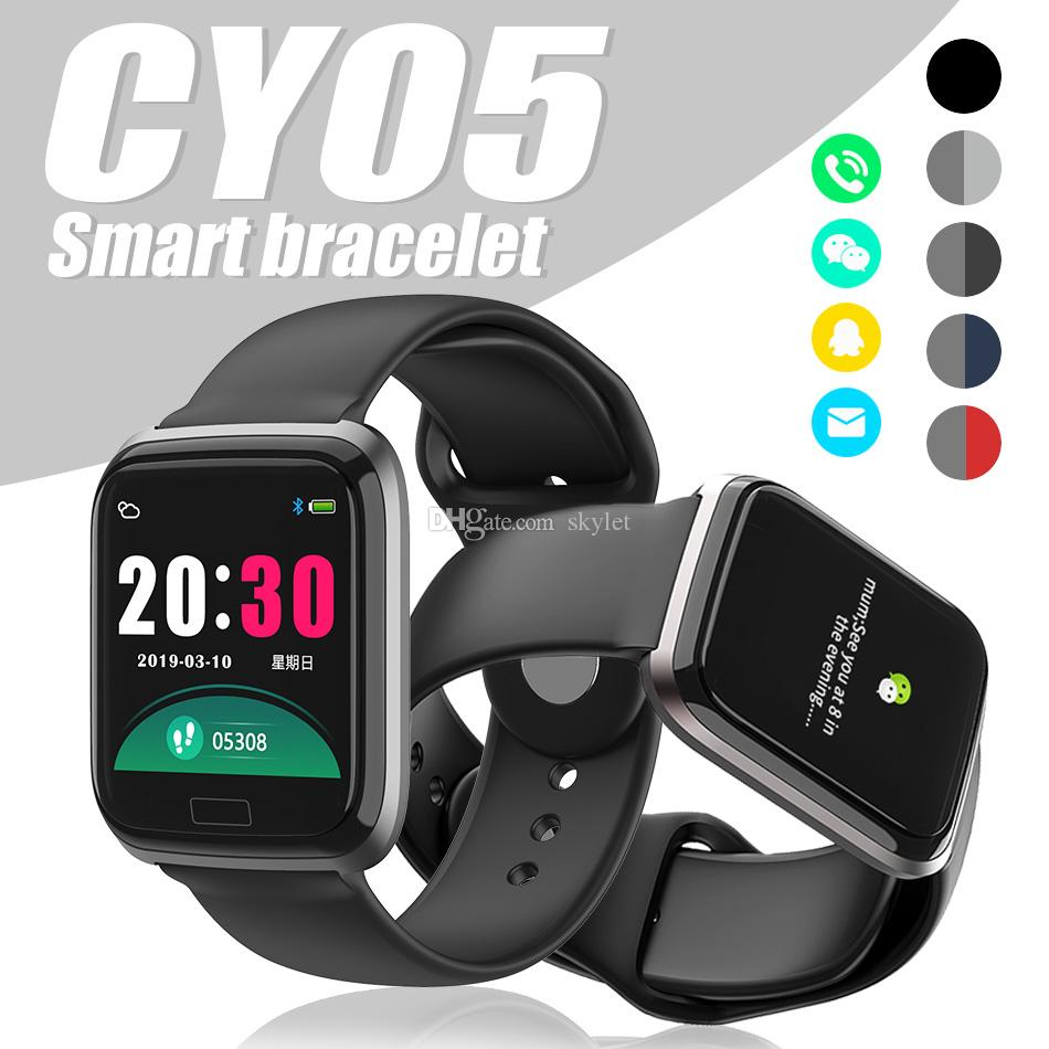 CY05 Smart Bracelet Fitness Tracker Wristband with Heart Rate Sport Tracker Monitor Wristband for Android IOS PK ID116 Y7 with Retail Box