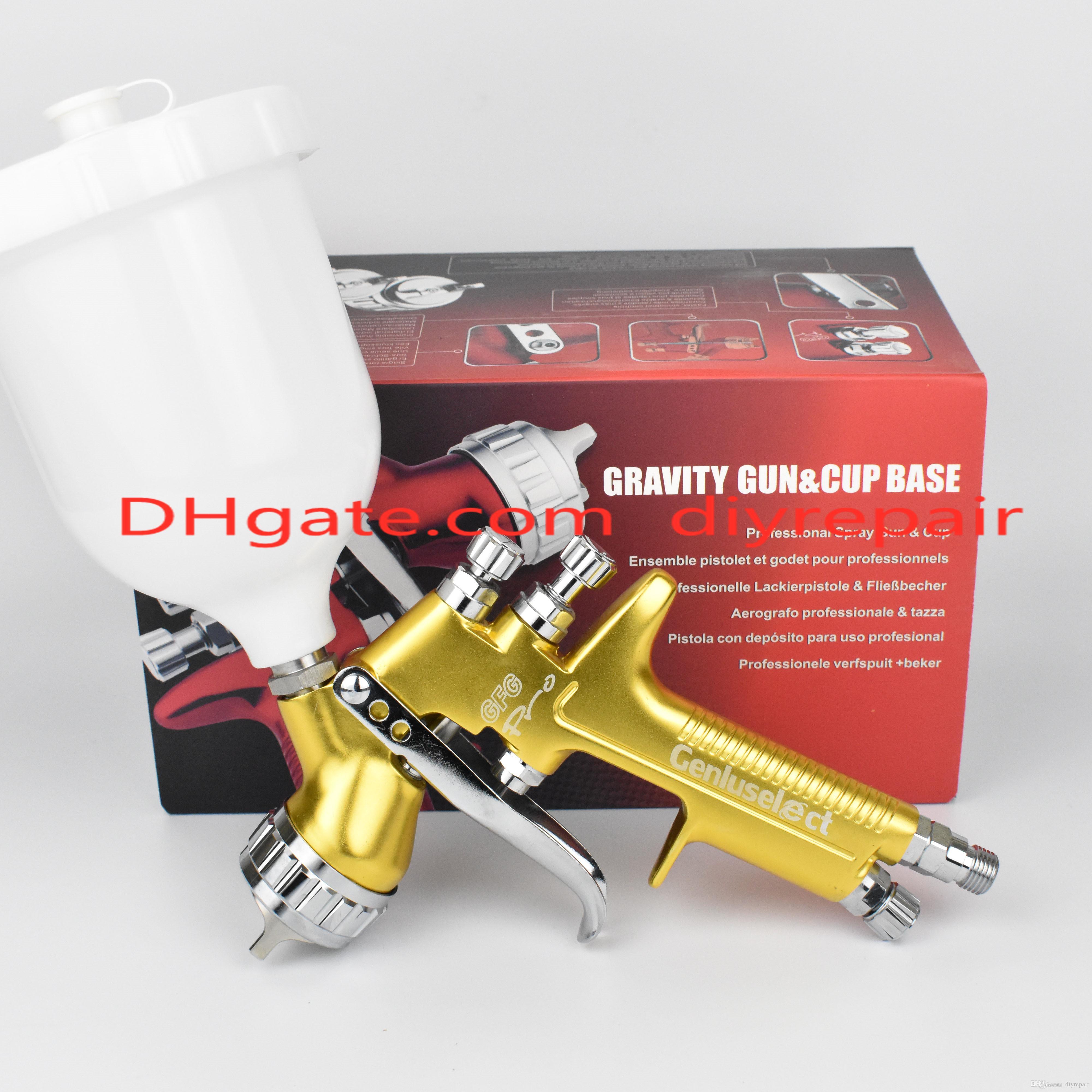 Limited Edition Высокое Качество Золотой GFG Pro Профессиональный пистолет-распылитель HVLP Автоматический пистолет-распылитель Высокоэффективный туман
