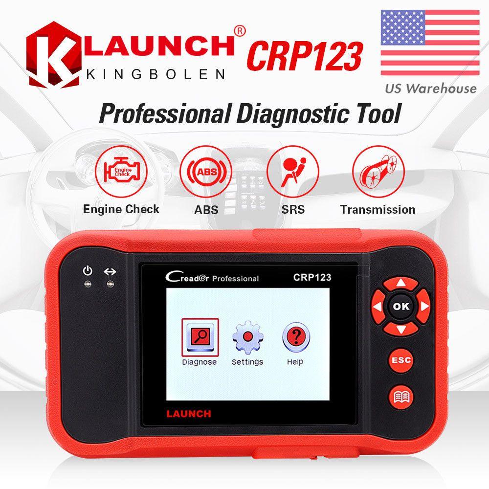 Lancio di X431 Creader VII Plus VII + Lettore di codice auto OBD2 OBD 2 Scanner Lancio strumento di diagnostica per auto CRP123 OBDII Strumento di analisi automobilistica