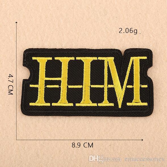 8P-157 Im Lager Mode Cartoon Worten Eisen auf Flecken gestickte nähen auf Flecken für KIDS Kleidung kann Kunden-Design