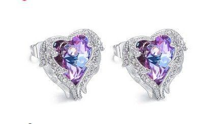 chaming 더 많은 색상 다이아몬드 크리스탈 925 실버 레이디의 earings (36)