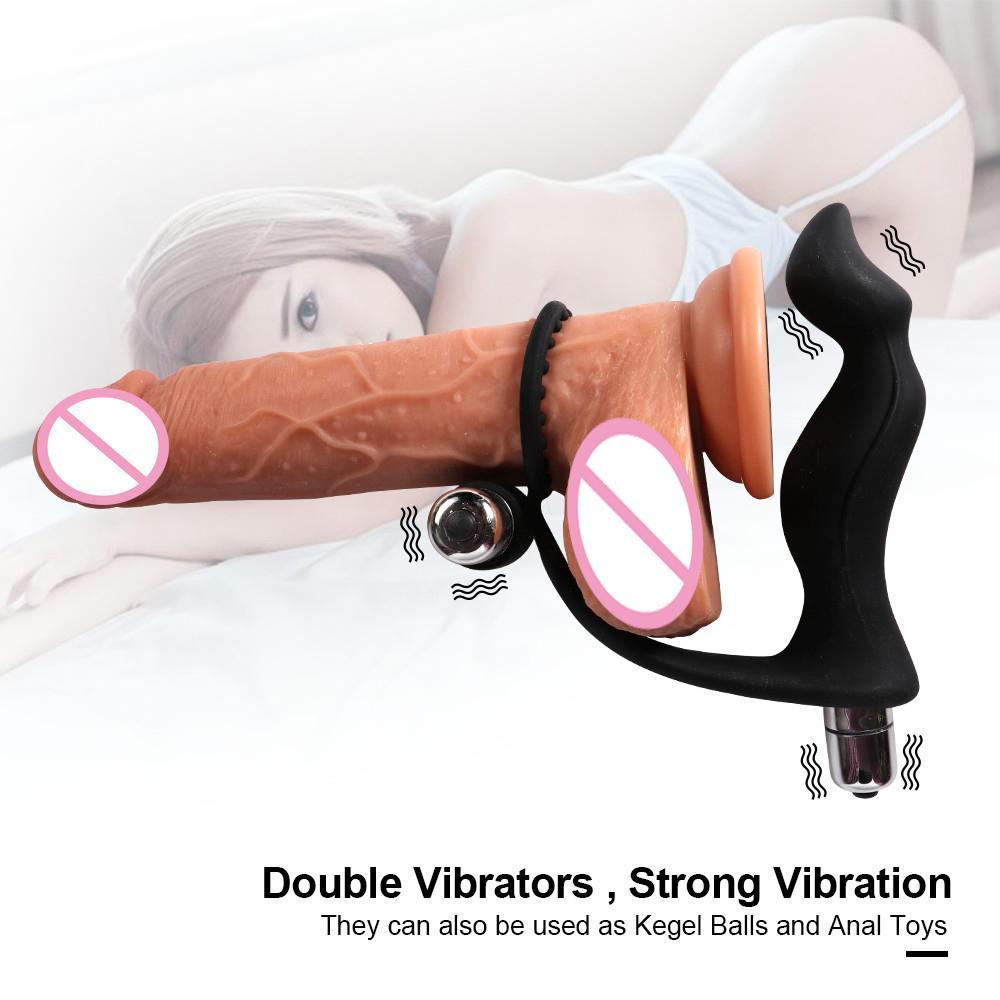 SZX Prostat Gecikmesi Silikon Masaj Kadınlar Ile Zaman Fiş Anal Penis Yüzük Popo Erkekler Seks Oyuncak G-Spot Fiş Çiftler için G-Spot Vibratör Cock Y19062 LGFX