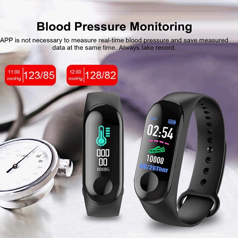 Academia Rastreador M3 inteligente Pulseira Heart Rate pulseira para Smart celulares PK M2 M3 F0 relógio inteligente com Retail Box
