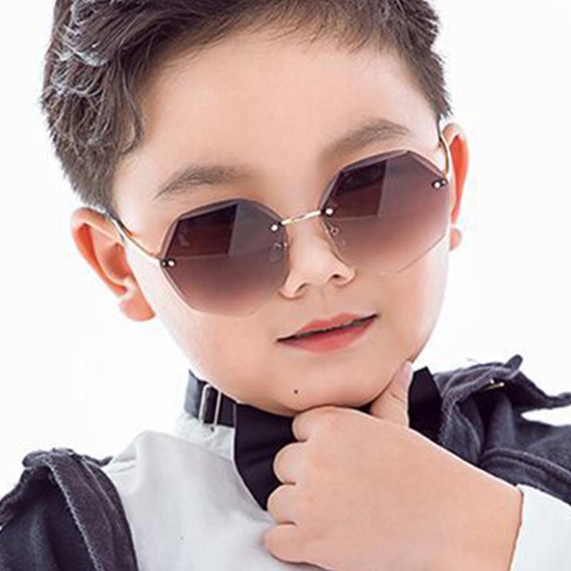 Child Kids Sunglasses Round Metal Frameless Sunglasses High Quality Children for Boys Girls Baby Oculos Mascul