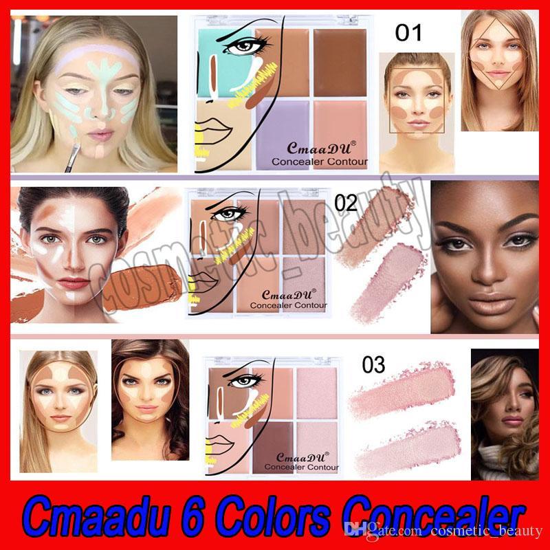 بودرة الوجه كونتور باليت من كومادو 6 كولور ، كونسيلر بودرة الوجه ، كونسيلر كونتور ، مكياج الوجه