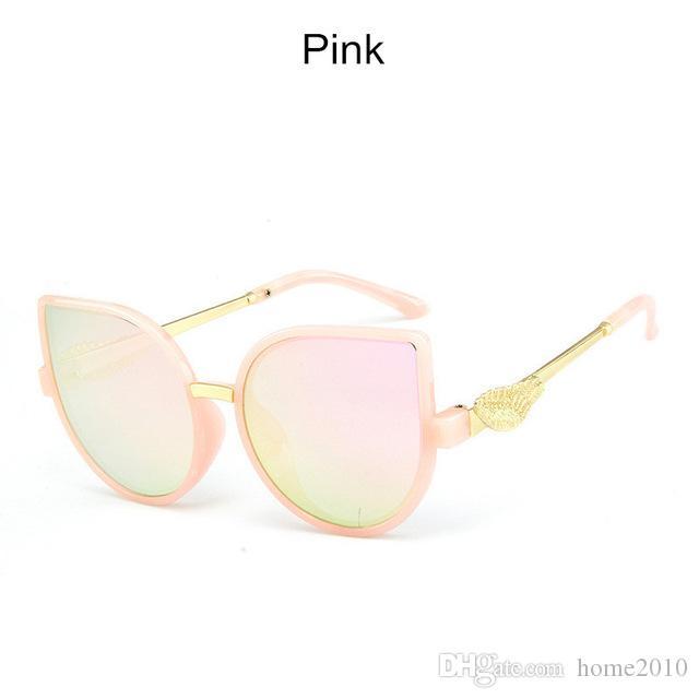 home2010 clássico Plastic Sunglasses Crianças Meninos do vintage Meninas Sun Glasses Designer rosa Gradiente Sun Vidro UV400 Oculos