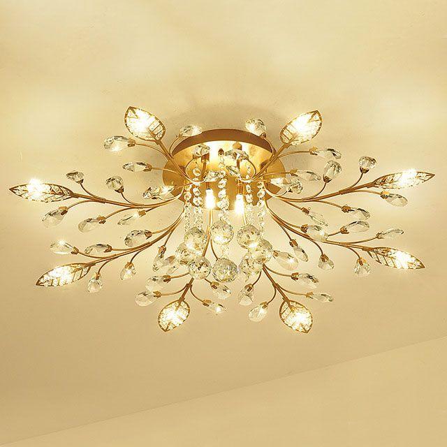 새로운 항목 멋진 천장 빛 LED 크리스탈 천장 조명 램프를 위한 거실 등,AC110-240V DIY 크리스탈 조명
