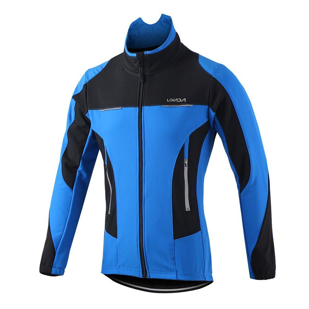 Lixada الرجال في الهواء الطلق ركوب الدراجات ماء يندبروف سترة الشتاء الحرارية مريحة طويلة الأكمام معطف ركوب ملابس رياضية