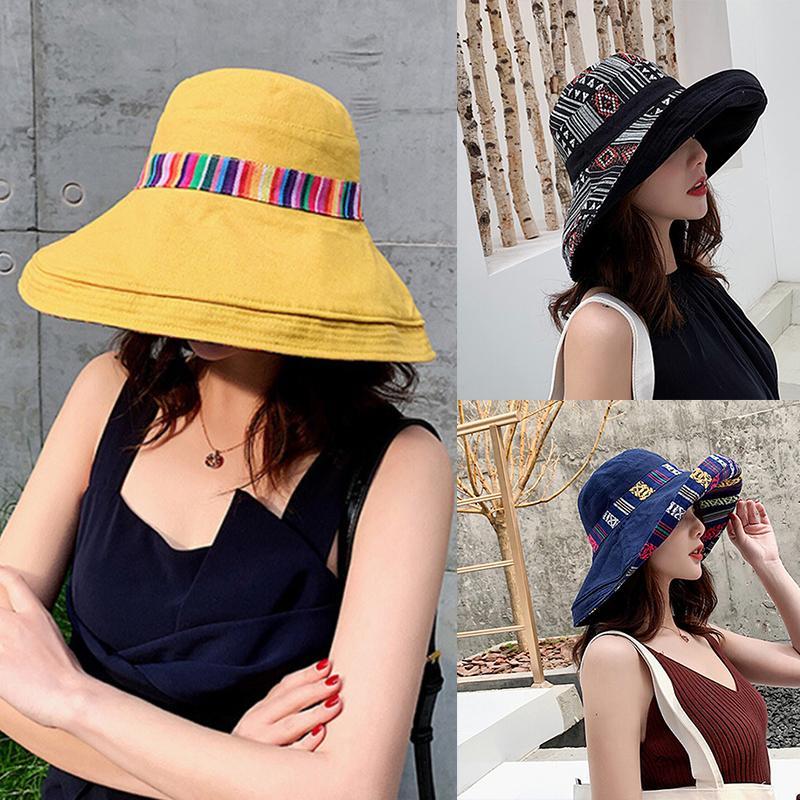 Summer Spring Bucket Hats Women Outdoor Beach Fishing Hat Street Style Cute Rabbit Ears Flowers Hats