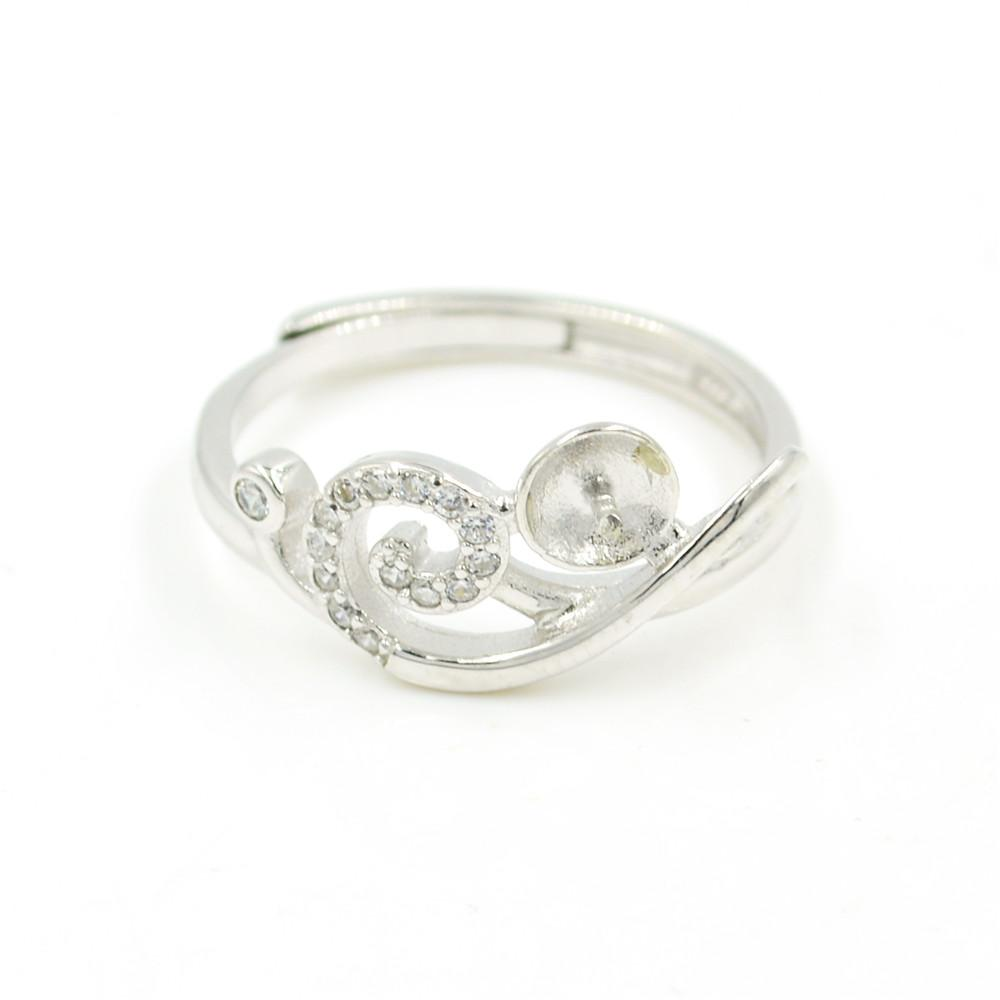 Оптовая продажа S925 стерлингового серебра кольцо крепления Xiangyun стиль кольцо крепления для женщин жемчужные украшения diy бесплатная доставка регулируемый открытие кольцо