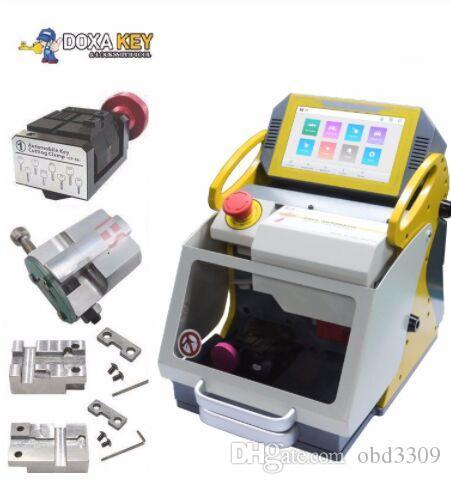 2019 Top Vente Original Hot! Découpe automatique clé machine SEC E9 portable clé Copie machine clé Duplication machine avec 4