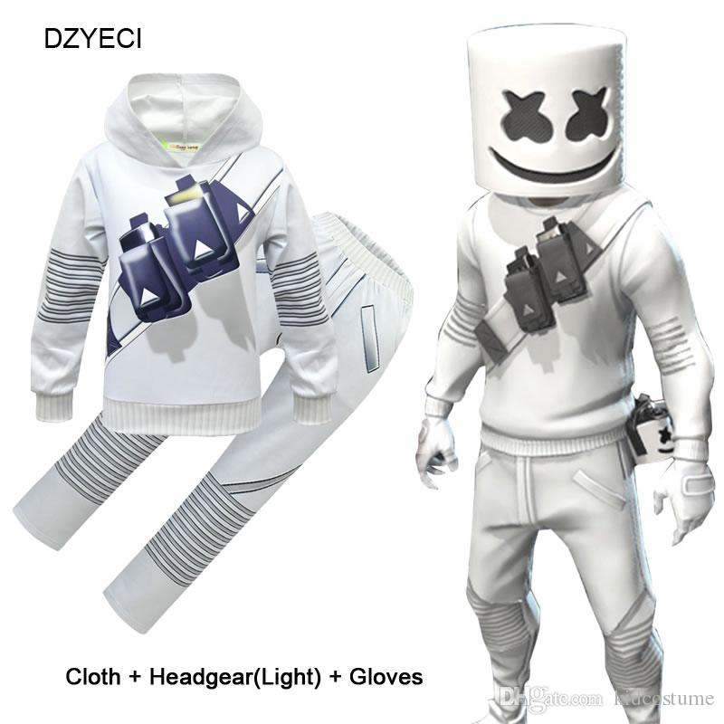 Marshmello Halloween 2020 2020 Marshmello DJ Music Outfit For Big Set Clothes Halloween