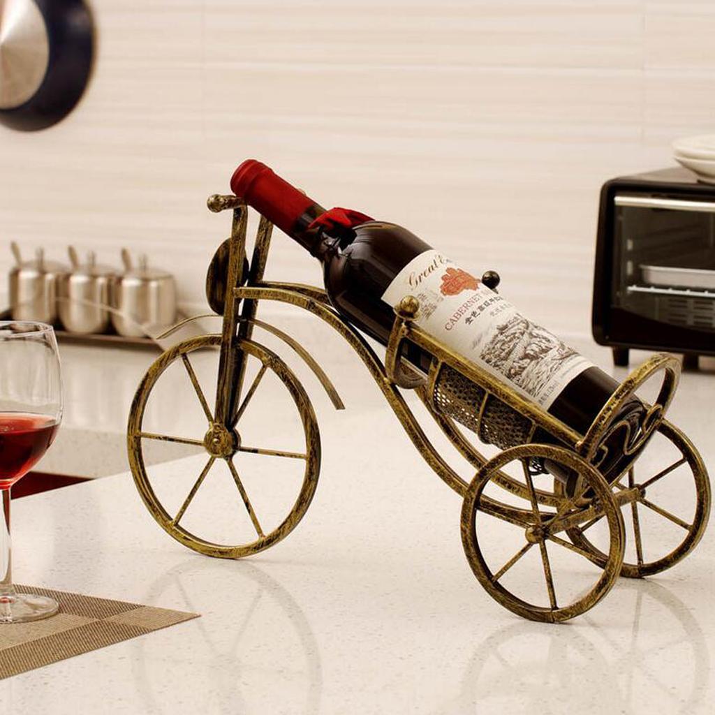 Модель Bronze Wine Rack Домашнее украшение бутылок вина держатель красного вина Полка