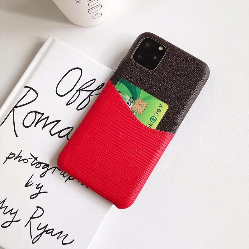 حالات فاخر مصمم الهاتف لفون برو 11 بحد أقصى 6 7 8 زائد مع حقيبة بطاقة الغطاء الخلفي لينة لفون X XR XS MAX
