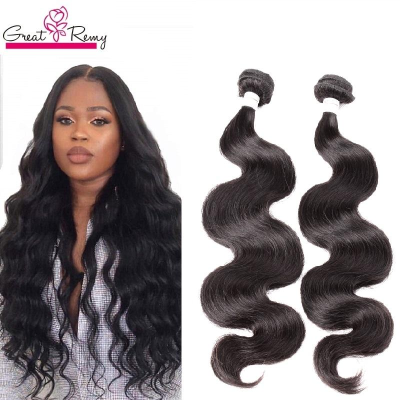 Greatremy® Braziliaanse rauw haar Weave Onverwerkte Maagd Menselijk Haar Inslag Body Wave Hair Bundels Full End 1pc Retail 10-24 Inch