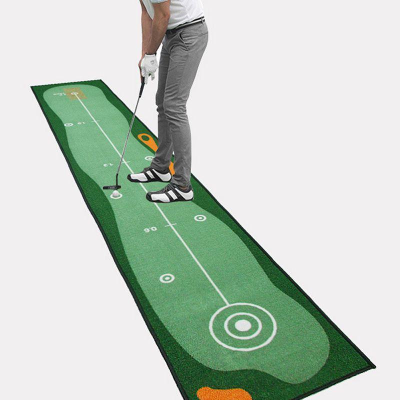 Indoor Golf Practice Carpet Mat Putter Practice Mat Putting Green Golf Office Machine
