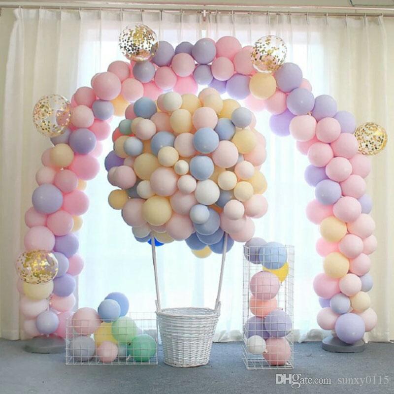 100 adet 10 inç dekor macaron balonlar pastel şeker balonlar doğum günü partisi süslemeleri bebek duş renkli hava topu düğün kemer baloons