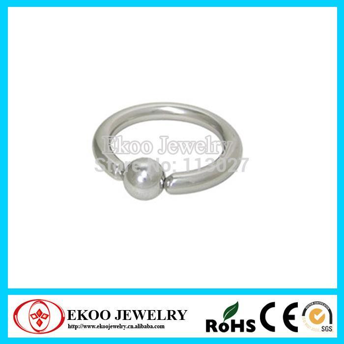 (Min. Di ordine $ 10) Heavy Gauge 316L acciaio chirurgico prigioniero Bead Ring 10 Gauge Monili penetranti T200507