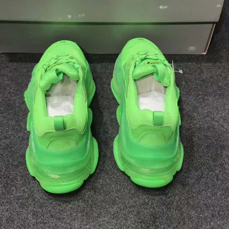 2019 Üçlü S Tasarımcı Ayakkabı Combin Boş Baba Ayakkabı N01 Of Paris 17FW Triple-S Sneaker Koyu Yeşil 3 Nesil