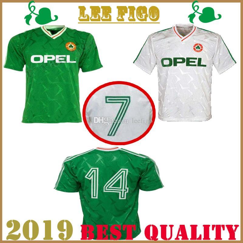 Copa del mundo 1990 camiseta de fútbol retro de Irlanda 1990 camiseta clásica de Irlanda camiseta vintage de fútbol irlandés de Irlanda Sheedy