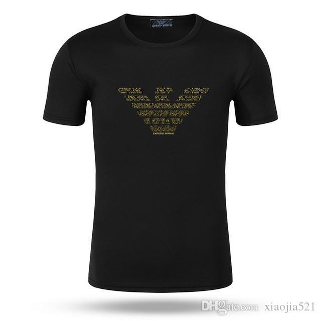 Designers camisetas Mens roupas de luxo Camisetas 2019 Summer Fashion Maré alta qualidade de impressão Casual Magro Tees Men