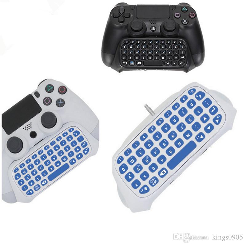Travel Portable Mini Bluetooth Wireless Message Keyboard Joystick Chatpad for Sony Playstation 4 PS4 Slim Pro Controller Game