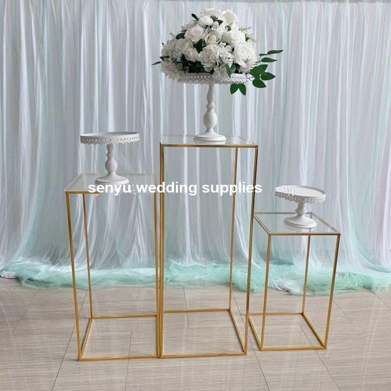Gold Plating Wedding Arch Frame Wedding Backdrop Stand senyu0166