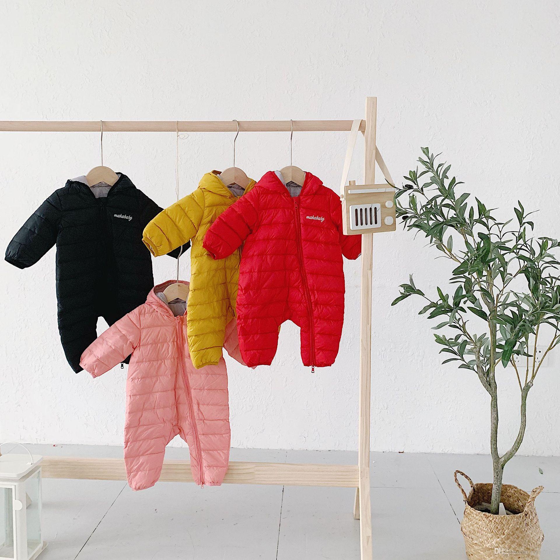 Kid tuta sportiva di inverno dei bambini vestiti del bambino delle ragazze dei pagliaccetti Warm ispessimento con cappuccio Tuta bambino per Newborn Abbigliamento