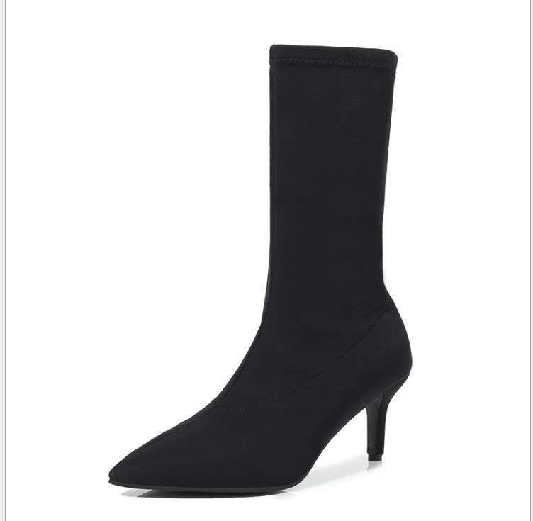 Hot moda in pelle a punta set Vendita-Nuovo di stivali solido stivali colore delle donne