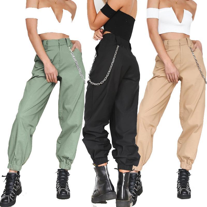 Pants Mulheres Novas Designer Sport calças cor pura Casual New Fashion Streetwear For Ladies Alta Qualidade frescos calças para senhoras