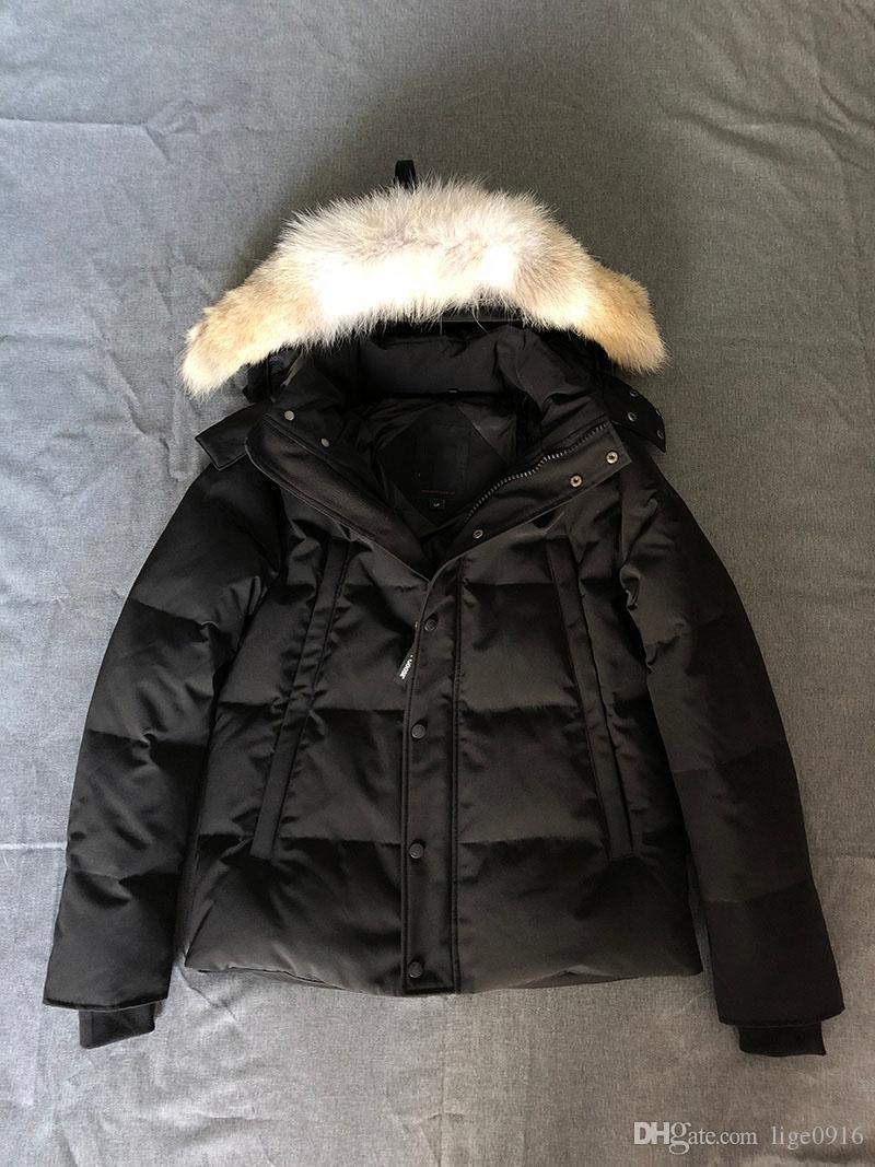 Canadá moda caliente impermeable cortavientos invierno Coyote piel gruesa capa caliente Whyndham Parka Lobo peletería torreón -30 grados