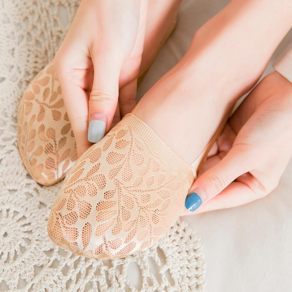 1 par moda mujer niñas verano estilo encaje flor corto calcetín antideslizante invisible tobillo calcetines 2019 Sox verano algodón encaje bajo