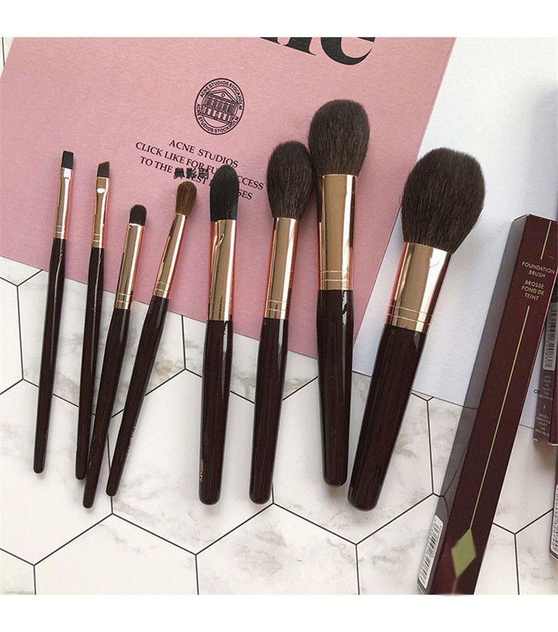 Hot brand 8 PCs Foundation/Brusher/Eyeshadow Makeup Brush Set Luxury Powder & Sculpt Beauty Brushes New/Full Size In Box