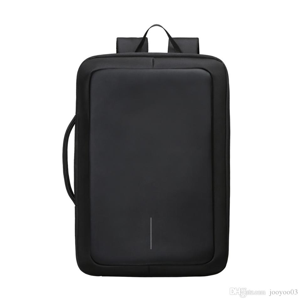 Personality Wild Casual Multi-function Anti-theft Fashion Trend Backpack Computer Dual-use Large Capacity Simple Business Briefcase jooyoo