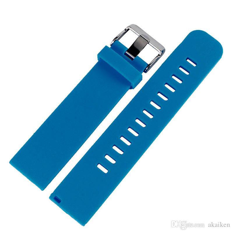 Bares preto / cinza / azul / Strap Red Silicone substituição Assista Acessório 20 mm / 22 milímetros pulseira de borracha pulseira impermeável Banda Quick Release