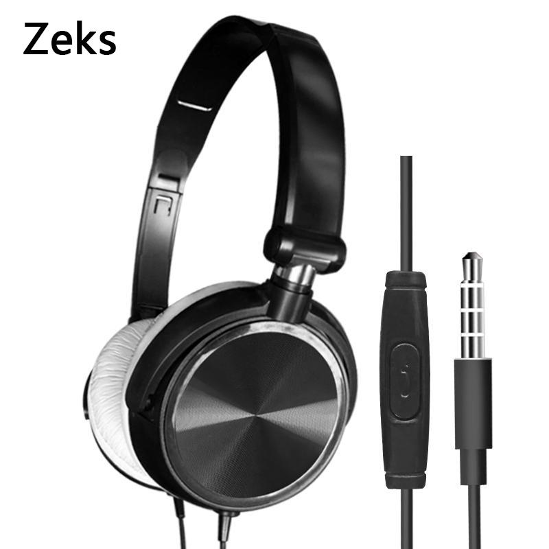 3.5mm jack Wired Computer Headset with Microphone Heavy Bass Game Karaoke Voice Headset