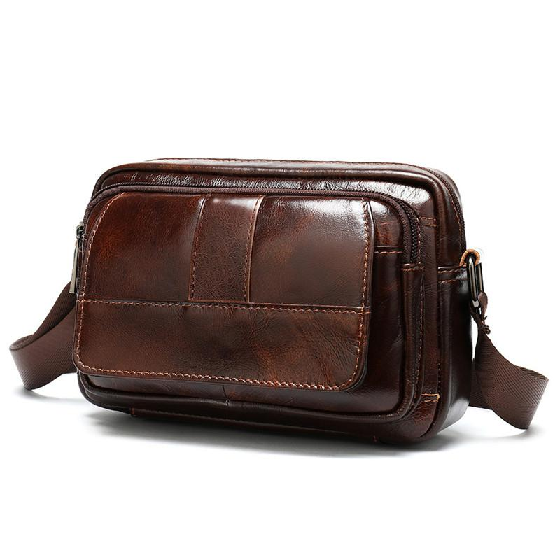Qualitäts-echten Leder-Mann-Beutel-Geschäft Crossbody Beutel für Männer Iphone 8 Herren Messenger Bag beiläufige Schulter