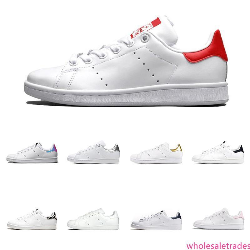 2020 Top Triple marine blanc noir vert smith hommes femmes qualité rouge arc-en-vert stan chaussures pour hommes en cuir de mode chaussures Casual