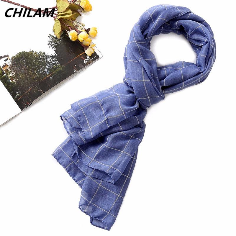 NEW Fashion scarf for men and women high quality long neck warm shawl classic British style plaid cotton linen scarves