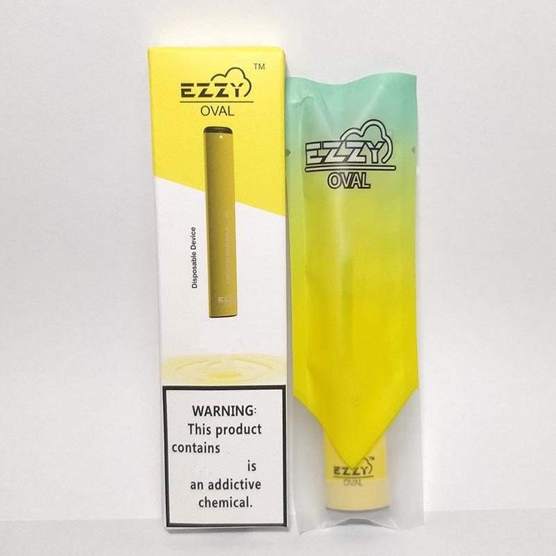 EZZY OVALE Pre fille 5% Jetables Vape Pen Devices Kits de démarrage 280mAh 1,3 ml Batterie 300 Puffs pods cartouche système ecig