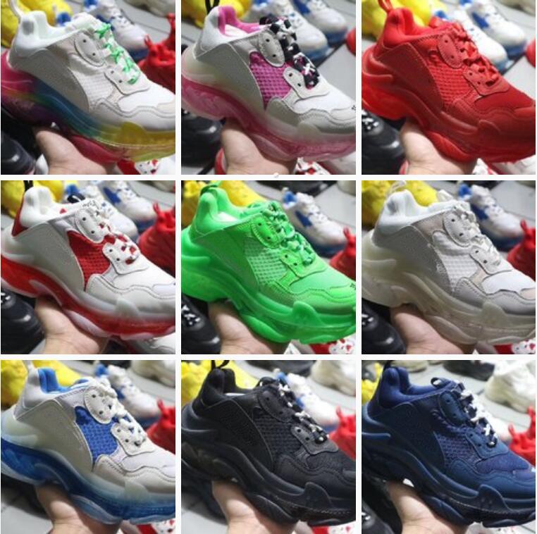 tripler Günlük Ayakkabılar üçlü s Temizle Eğitmenler Baba Ayakkabı Sneakers Kombinasyon Kristal alt erkekler kadınlar Ayakkabı Moda balanciaga kombine tabanları