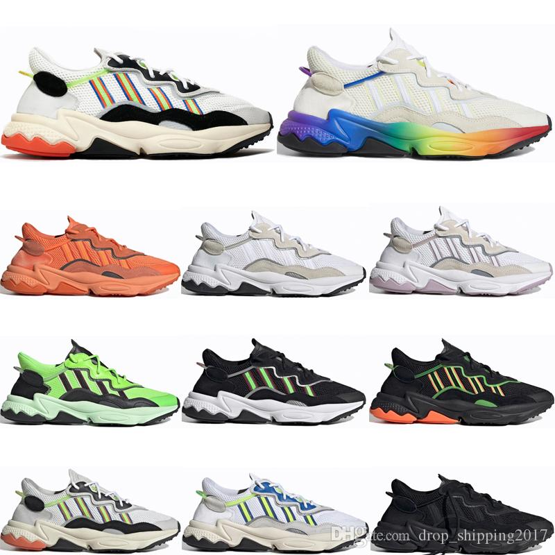 Compre Adidas Ozweego AdiPRENE Shoes Top OG Designer Ozweego Hombres  Mujeres Zapatos Casuales Pride 3M Reflective Xeno Bold Orange Neon Green ...